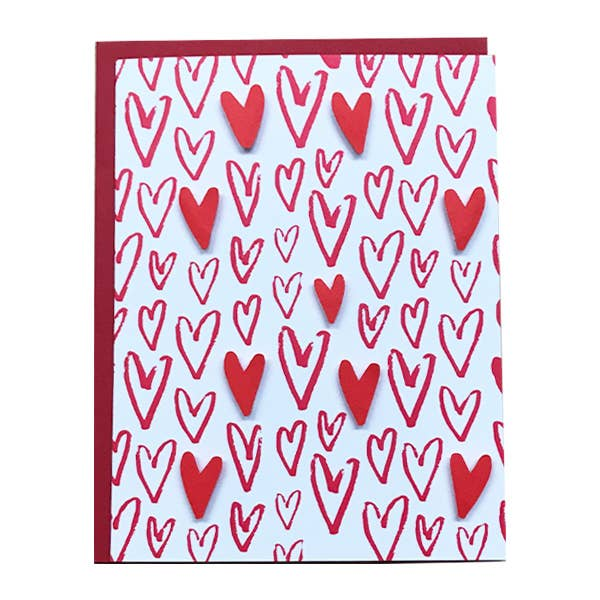Blank Hearts Card - BodyFactory
