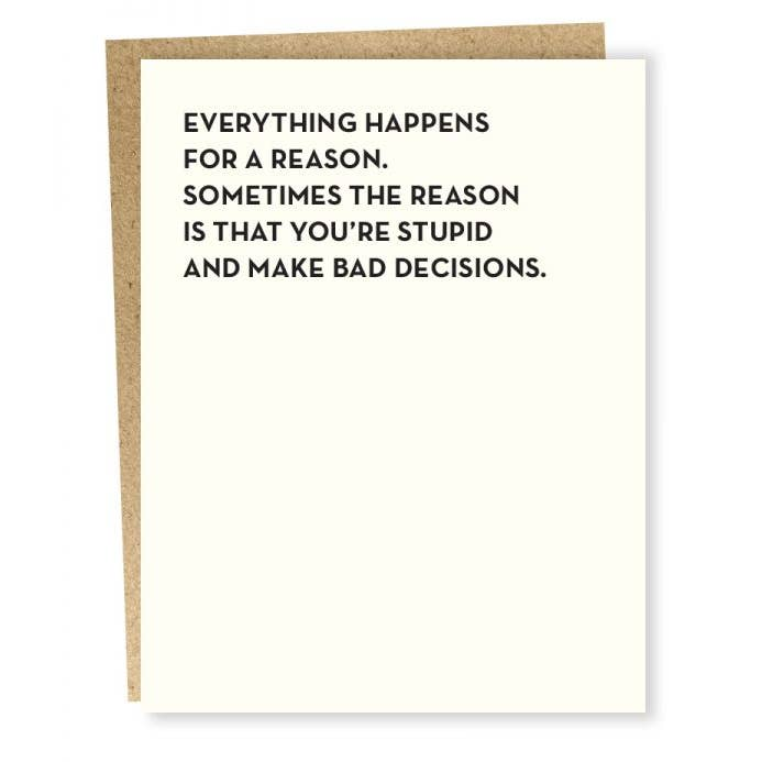 Moment of Truth - Bad Decisions Card - BodyFactory