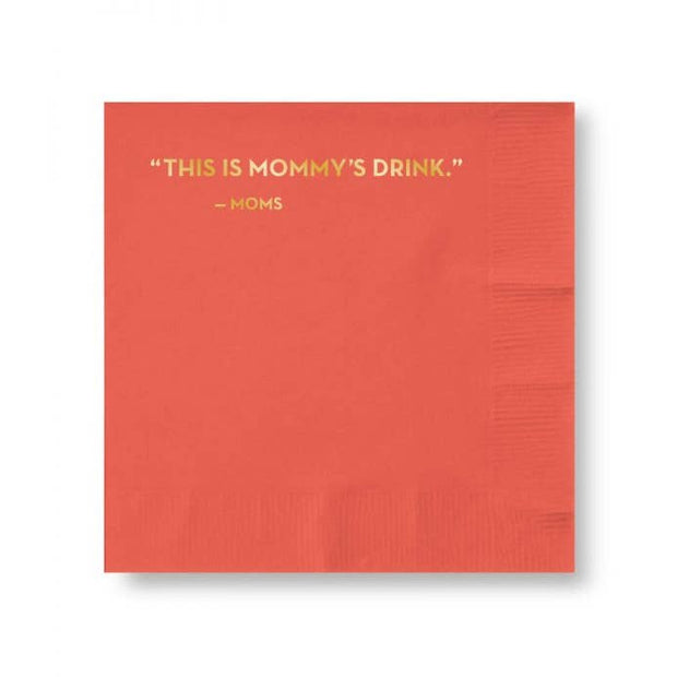 Cocktail Napkins Mommy's Drink - BodyFactory