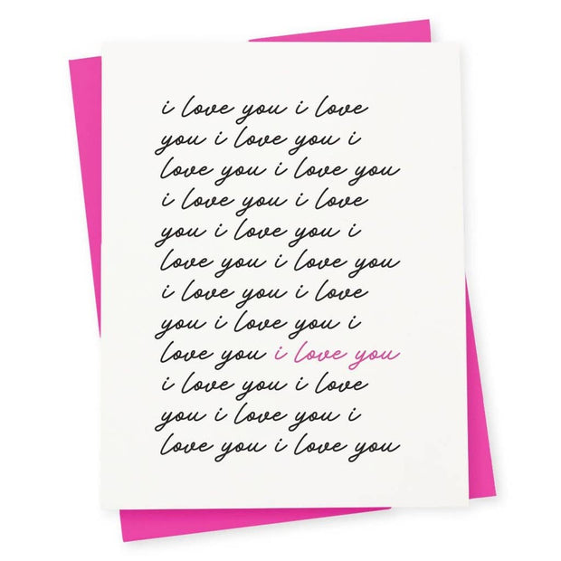 Letterpress Card Love You - BodyFactory