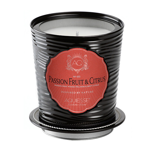 Large Decorative Tin Candle Passion Fruit & Citrus - BodyFactory