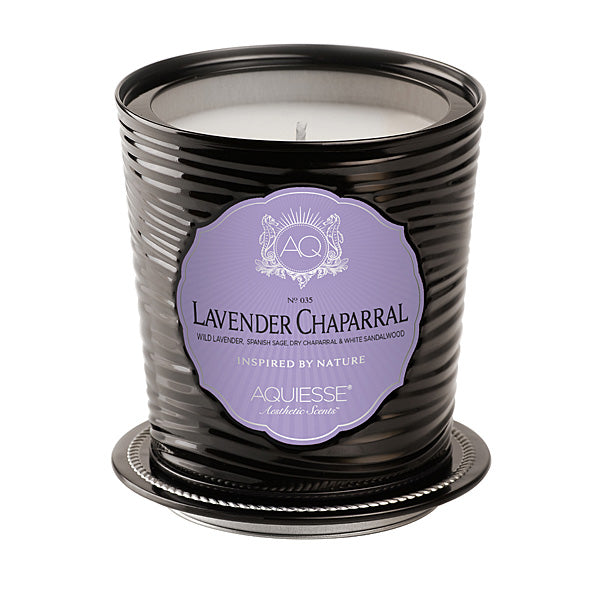Large Decorative Tin Candle Lavender Chaparral - BodyFactory