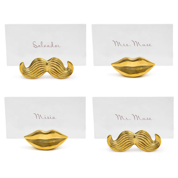 Mr. & Mrs. Muse Place Card Holder Polished Brass - BodyFactory