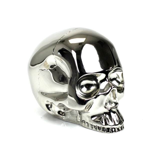 Brass Skull Silver Medium - BodyFactory