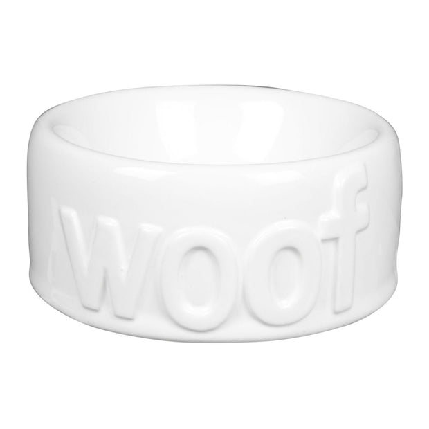 Dog Bowl Woof Medium - BodyFactory