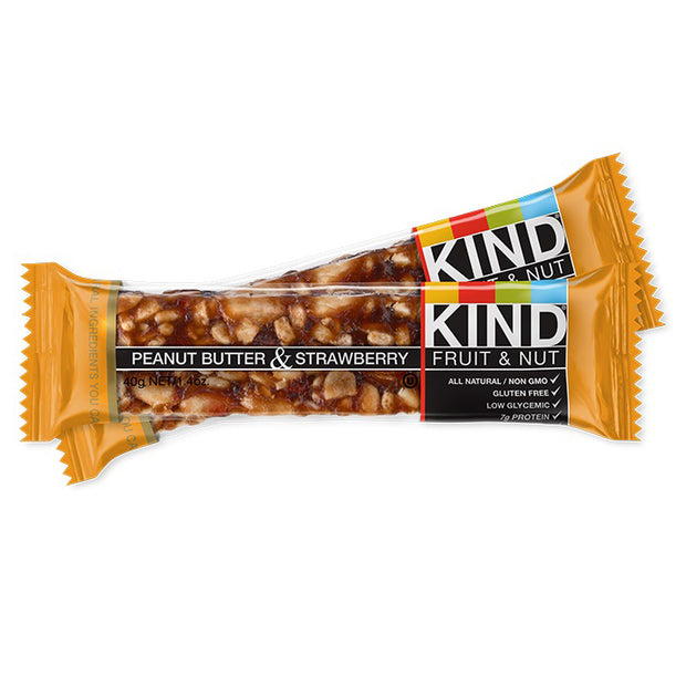 Kind Fruit & Nut Bar Peanut Butter Strawberry 1.4 Ounces - BodyFactory