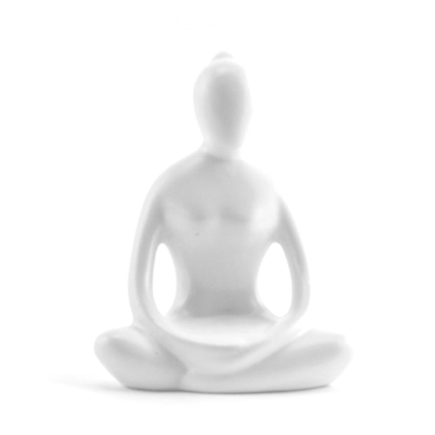 Yoga Lady Candle Holder White - BodyFactory