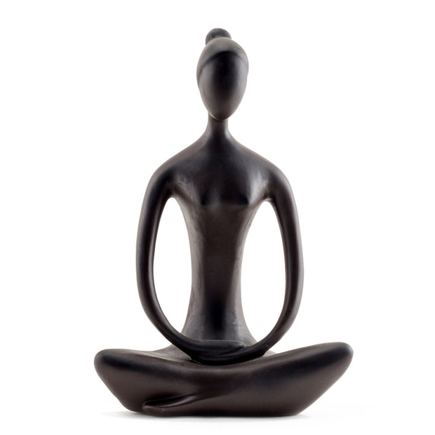 Yoga Goddess in Seated Pose Brown Large - BodyFactory