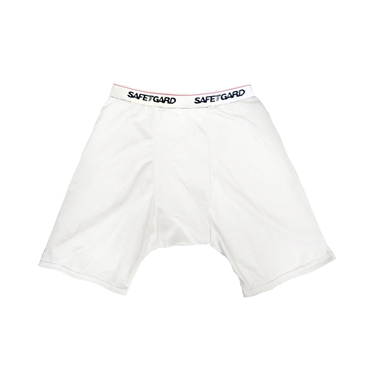 Compression Shorts White Large - BodyFactory