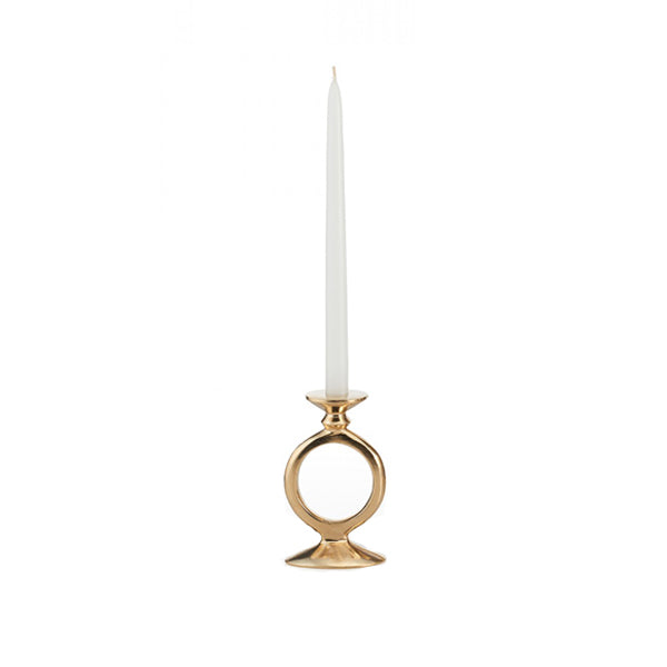 O Candle Holder Gold Small - BodyFactory
