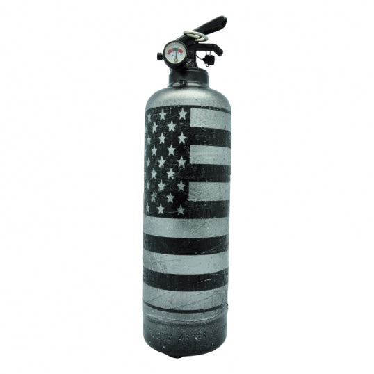 Fire Extinguisher USA Flag Silver - BodyFactory
