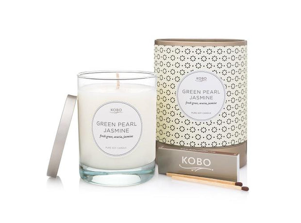 Soy Candle Green Pearl Jasmine - BodyFactory