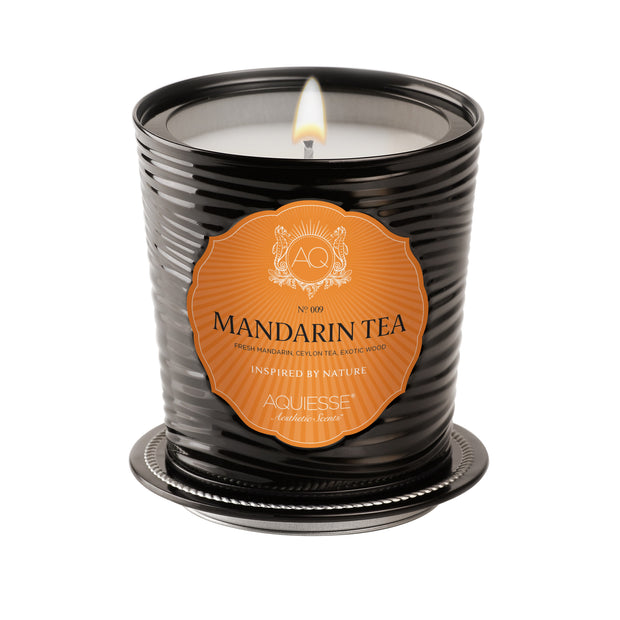 Large Decorative Tin Candle Manderin Tea - BodyFactory