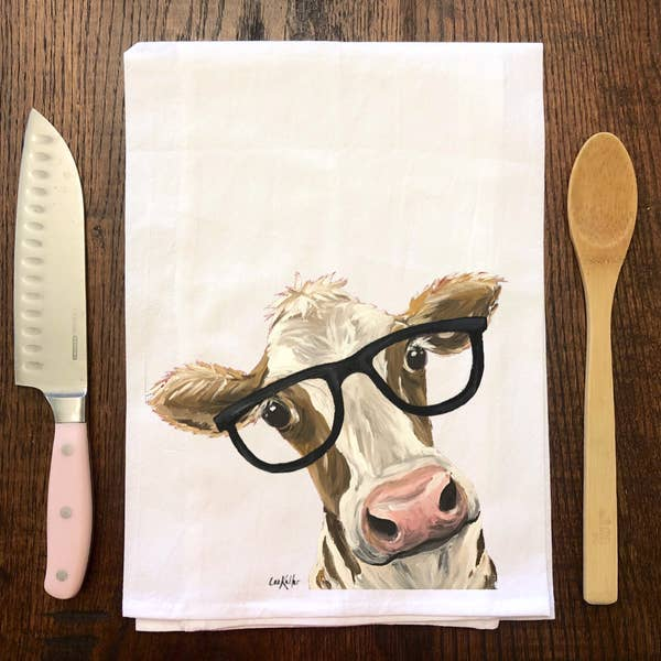 Tea Towel Farm Animal Cow