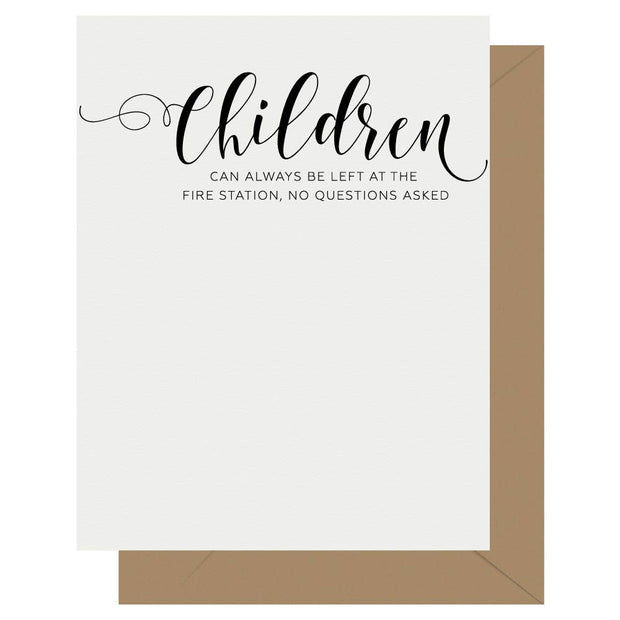 Crass Calligraphy Letterpress Greeting Card Children - BodyFactory