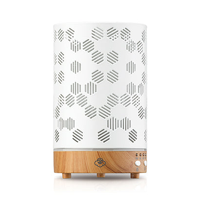 Honeycomb White Metal Essential Oil Diffuser - BodyFactory