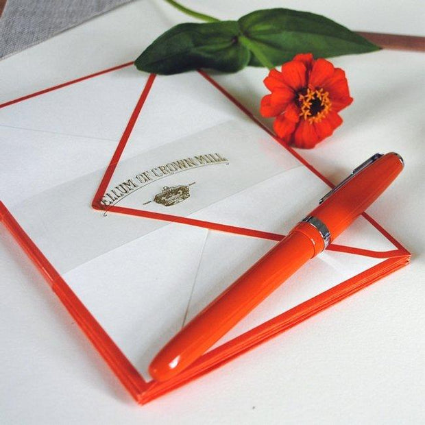 Color Edge Card Box 4x6 Orange - BodyFactory