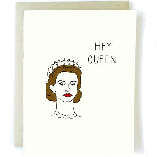 Hey Queen Crown Card - BodyFactory