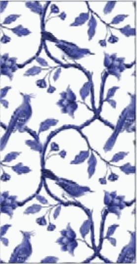 Embossed Matches Chinoiserie Blue