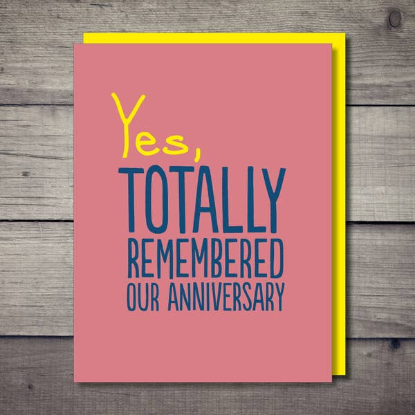 Totally Remembered Anniversary Card - BodyFactory