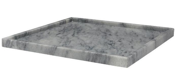 "16"" Square Tray Grey Marble - BodyFactory"