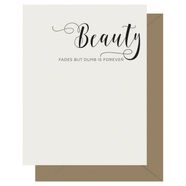 Crass Calligraphy Letterpress Greeting Card Beauty - BodyFactory