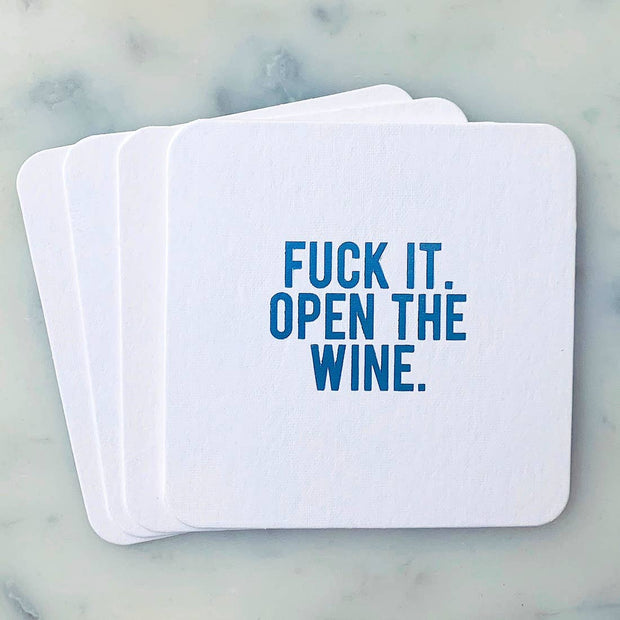 Coaster Fuck It Open the Wine - BodyFactory