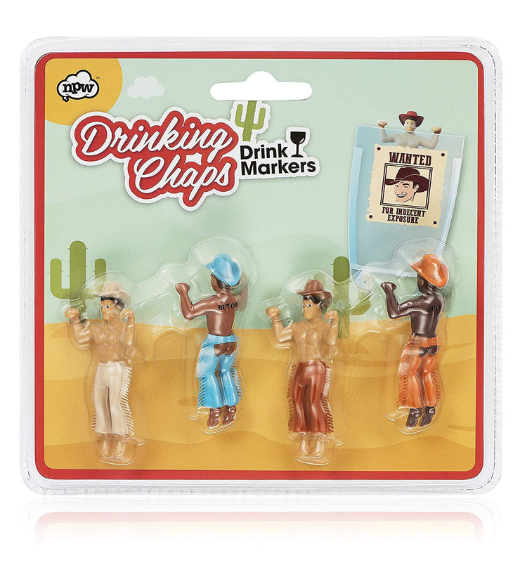 Chaps Drinking Buddies Pack of 4 - BodyFactory