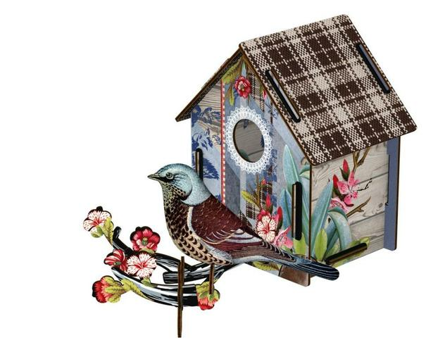 Bird House with Bird Fabric I'm Back - BodyFactory