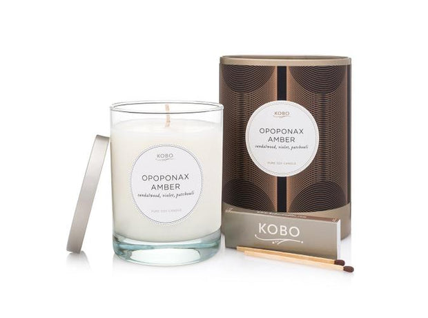 Soy Candle Opoponax Amber - BodyFactory