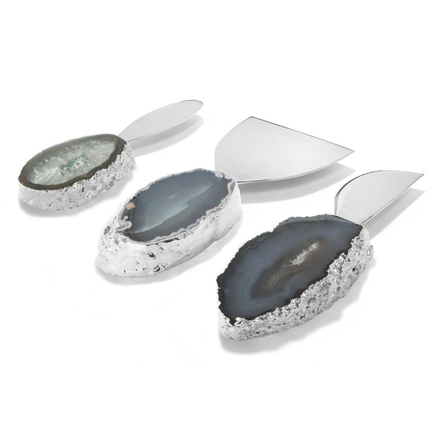 Lumino Cheese Set Blue and Silver - BodyFactory