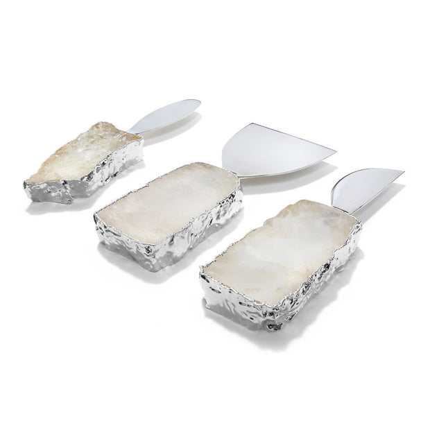KIVA Cheese Set Crystal and Silver - BodyFactory