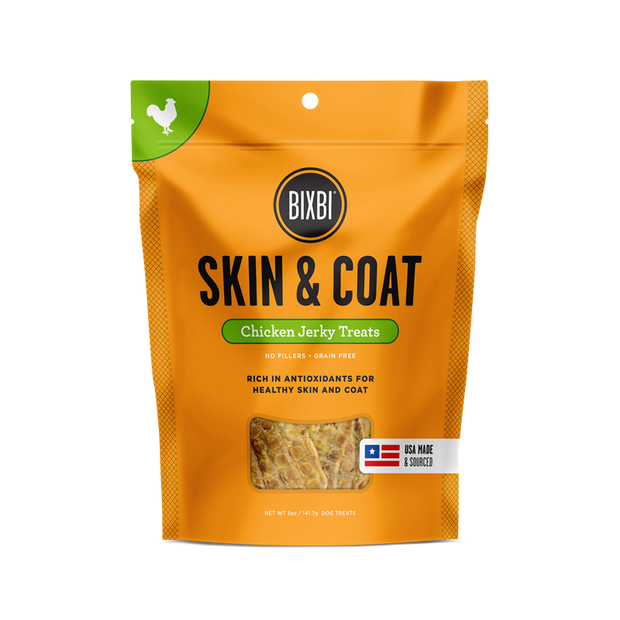 Skin & Coat Jerky Chicken Breast 5oz - BodyFactory
