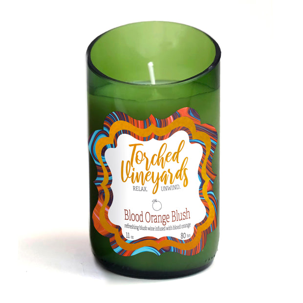 Wine Bottle Candle Blood Orange Blush - BodyFactory