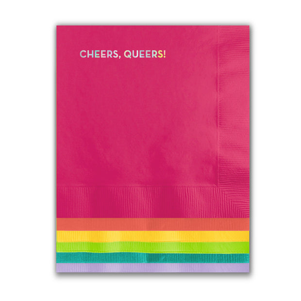 Cocktail Napkins Cheers Queers - BodyFactory