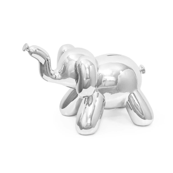 Balloon Elephant Bank Silver - BodyFactory