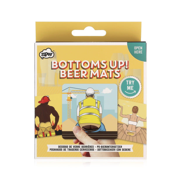 Bottoms Up - Bum Beer Mats - BodyFactory