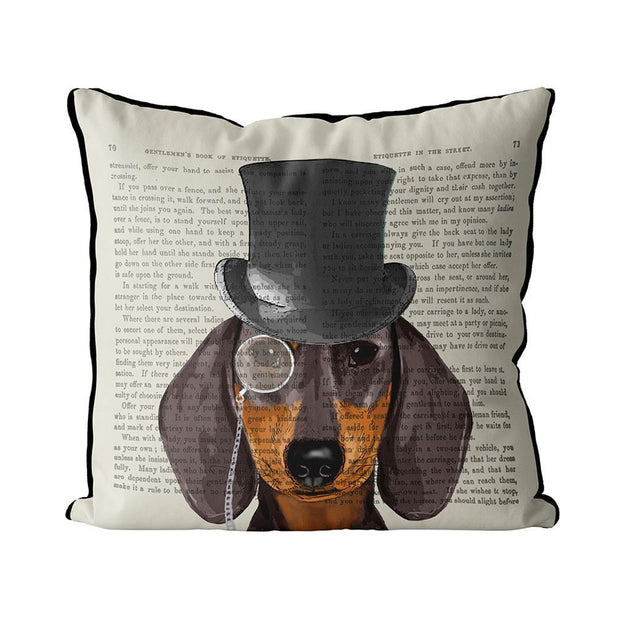 Pillow Formal Hound and Hat Dachshund - BodyFactory