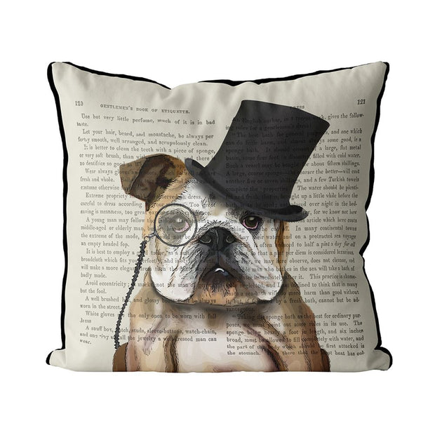 Pillow Formal Hound and Hat English Bulldog - BodyFactory