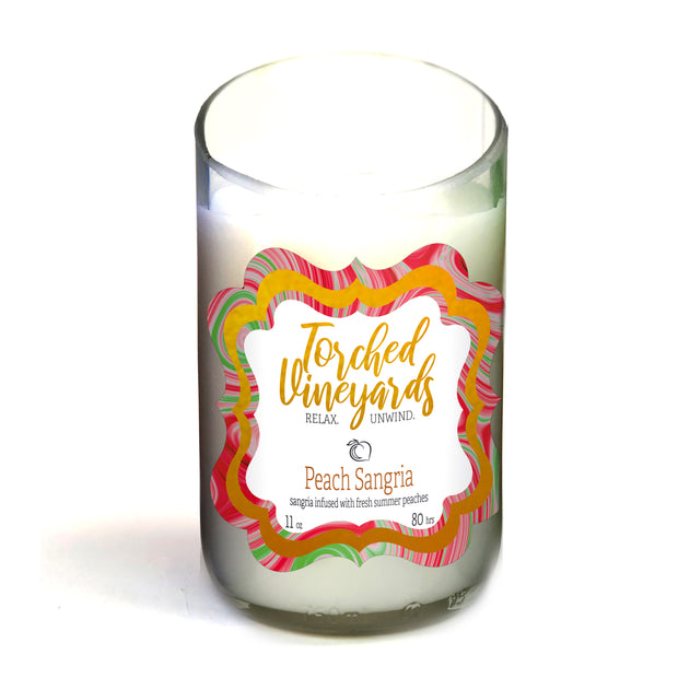 Wine Bottle Candle Peach Sangria - BodyFactory