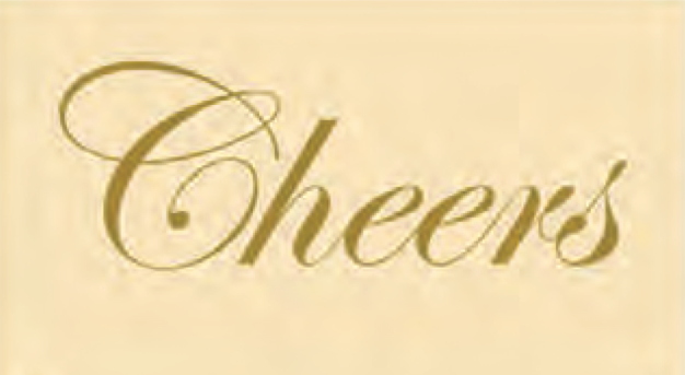 Embossed Matches Cheers Ivory Gold