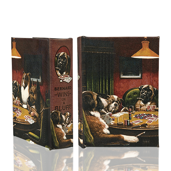 Dogs Playing Poker Book Box - BodyFactory