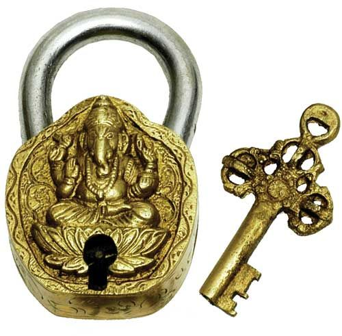 Brass Art Lock Ganesha - BodyFactory