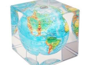 Blue Globe with Relief Mova Cube - BodyFactory