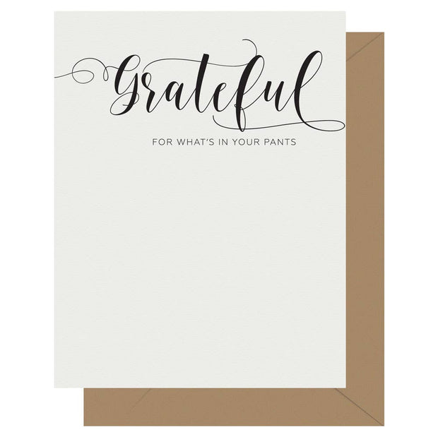 Crass Calligraphy Letterpress Greeting Card Grateful - BodyFactory