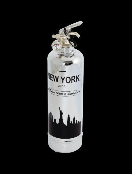 Fire Extinguisher Chrome NYC Skyline - BodyFactory