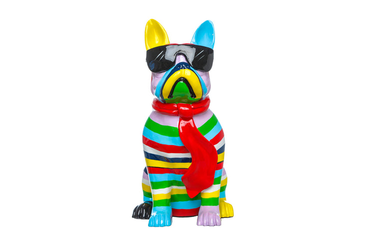 Dog with Black Glasses Color Stripe - BodyFactory