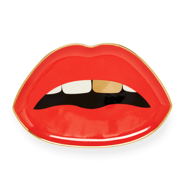 Lips Trinket Tray Red - BodyFactory