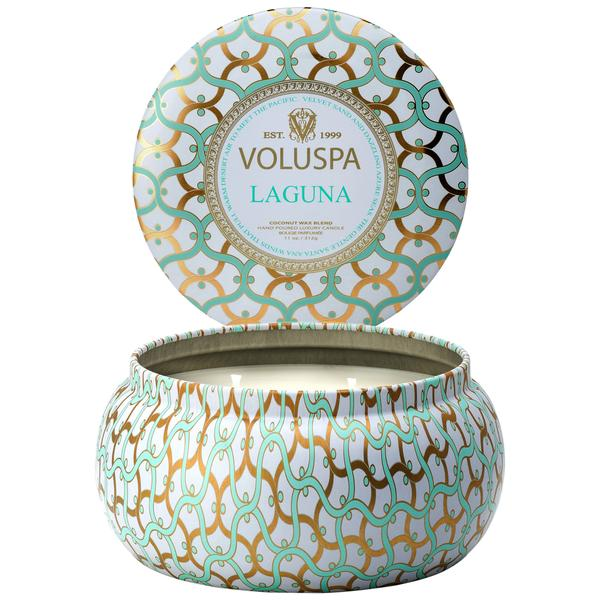 Printed Tin Candle Laguna 50 Hours