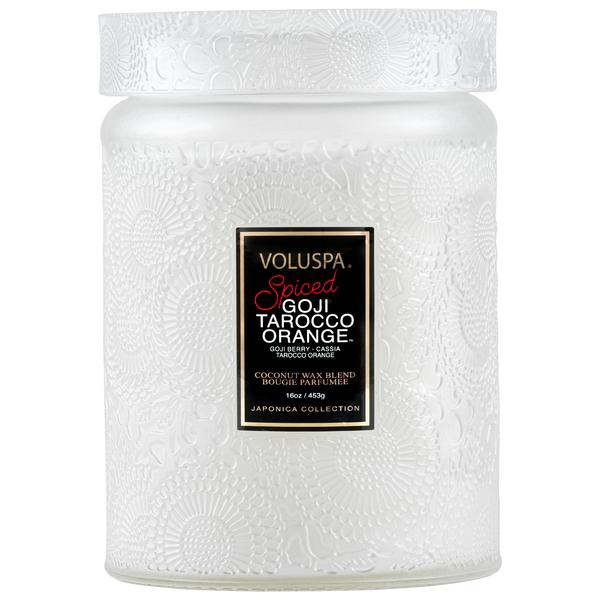 Large Jar Candle Spiced Goji Tarocco Orange - BodyFactory